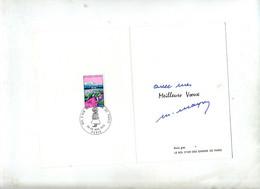 Carte Double Cachet Paris Bol D'air Gamin De Paris - Cachets Commémoratifs
