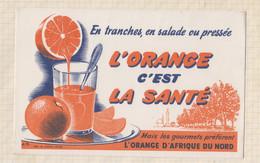 21/17 Buvard En Tranche En Salade Pressée L'orange C'est La Santé Orange D'afriq - Sprudel & Limonade