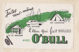 21/18 Buvard Boisson O'Bull Camping Maison Voyage Automobile Eau - Sprudel & Limonade