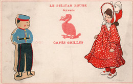 LE PELICAN ROUGE - ANVERS - Cartolina BELGA - 1 - NON VIAGGIATA - Publicité