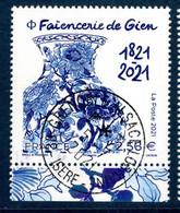 France 2021. Faïencerie De Gien..Cachet Rond Gomme D'origine - Used Stamps