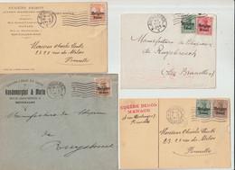D.Bes. 14/18-Belgen - 10 Belege (2408-30) - Bezetting 1914-18