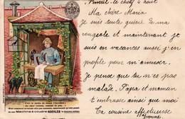 KOEHLER - MACHINE A COUDRE - Cartolina Francese  - VIAGGIATA - Publicité