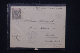 INDOCHINE - Type Groupe Sur Enveloppe De Yen Bai Pour Tarbes En 1901 - L 100838 - Storia Postale