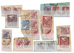 Berlin Petite Collection D'oblitérés Tous Sur Fragments 1948/1949. Bonnes Valeurs. TB. A Saisir! - Used Stamps