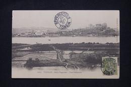 INDOCHINE - Affranchissement  De Sept Pagodes Sur Carte Postale En 1905 - L 100840 - Storia Postale