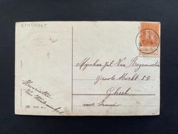 POSTKAART OBP 108 1c - Relais EYNTHOUT - 1912 Pellens