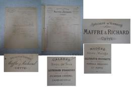 Facture Vermouth MAFFRE & RICHARD / Cette (Sète) - Invoices