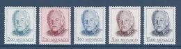 ⭐ Monaco - YT N° 1671 à 1675 - Neuf Sans Charnière - 1989 ⭐ - Neufs