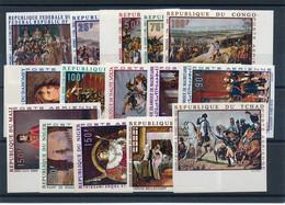 EC-459: THEME: Lot Avec Napoléon (non Dentelés) Sur  Timbres D'Afrique - Napoleón