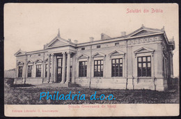 Braila, School, Mailed 1907, Stamp Removed - Romania