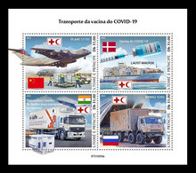 Sao Tome And Principe 2021 Mih. 9615/18 COVID-19 Coronavirus Vaccine Transportation MNH ** - Sao Tome Et Principe