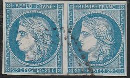 FRANCE COLONIE GENERALE CERES PAIRE 25c OBLITERATION LOSANGE REUNION - Ceres