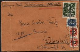 BAYERN - Wertbrief 1000 Mark MUENCHEN 1921 (x310) - Covers & Documents