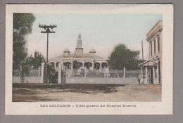 AK El Salvador 1914-08-20 San Salvador Farbfoto Hospital Rosales - El Salvador