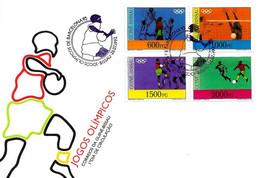 GUINEA-BISSAU - 1992 Olimpiadi Barcelona Serie Completa 4v. Annullo Giocatore Pallamano Su Busta Fdc - 5041 - Verano 1992: Barcelona