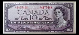 @@@ Ältere Banknote Kanada (Canada) 10 Dollars 1954 (BABNC) AUNC @@@ - Canada