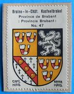 Brabant N047 Braine-le-Château Kasteelbrakel Timbre Vignette 1930 Café Hag Armoiries Blason écu TBE - Tè & Caffè