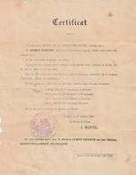 Absinthe Certificat M.gempp Pernod Fabricant D Absinthe A Lunel A Ete Naturalise Francais En 1869 - 1800 – 1899