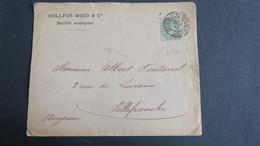 Perforé DMC Sur Type Blanc 1901 Lettre A En Tete Dollfus Mieg & Cie - Perforadas