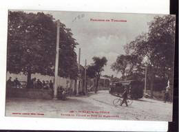 93 5A  CPA  Toulouse  Saint Martin Du Touch Entrée Du Village Et Café Du Marronnier Et Le Tramway - Other Municipalities