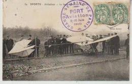 SPORTS Aviation Le Santos Dumont  (Cachet Port Aviation Semaine De Paris) - ....-1914: Précurseurs