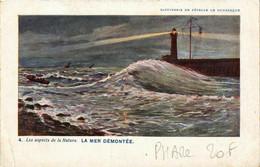 CPA AK Ls Apects De La Nature La Mer Demontee LIGHTHOUSE PHARE (708127) - Fari