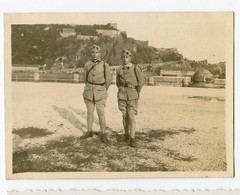 Snapshot Superbe Militaire COBLENCE MOSELLE RHIN Forteresse  Ehrenbreistein 1923 20s ALLEMAGNE - War, Military