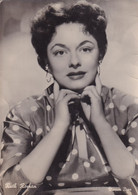 ATTORI CINEMA- RUTH ROMAN  -CARTOLINA Fotografica  - FG- VIAGGIATA 1957 ( USURA) - Actors