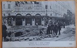 Paris - L'orage Du 15 Juin (1914 ?) - Eboulement Boulevard Haussmann - Animée - Léger Pli D'angle - (n°20859) - District 08