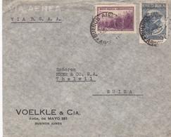 ARGENTINA CORREO AEREO. ENVELOPPE CIRCULEE PAR AVION ANNEE 1947, BUENOS AIRES A THALWIL, SUISSE.- LILHU - Poste Aérienne