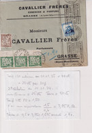 1935 VAVALLIER FRERES GRASSE ALPES MARITIMES DE  BARCELONA  CHIFFRE TAXE - 1931-50 Covers