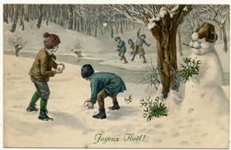 M. M. VIENNE, M. MUNK, Nr. 783 - Enfants, Boules Et Bonhomme De Neige, Noël - Vienne