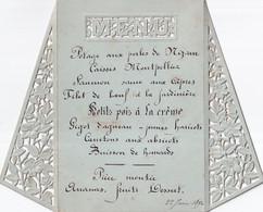 MENU    22 JUIN 1890   13 X 17 CM - Menus