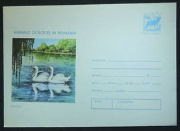 Entiers Postaux - Cygnes, Animaux Protégés En Roumanie (Swan, Protected Animals In Romania) - Swans