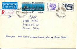 Bulgaria Registered Cover Sent To Czechslovakia Burgas 11-2-1993 Topic Stamps - Lettres & Documents