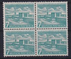 Berlin 1954 Ausstellungshallen 7 Pf Mi.-Nr. 121 Viererblock Postfrisch ** - Zonder Classificatie
