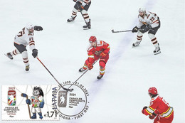 Latvia Lettonie 2021 - World Ice Hockey Championship Carte Maximum - Letland