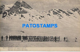 164546 ITALY THE WAR SOLDIER SKI SKIERS WITH WHITE COATS POSTAL POSTCARD - Non Classificati