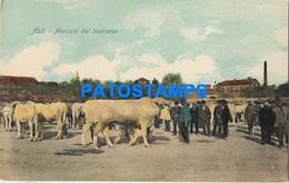 164554 ITALY ASTI COSTUMES MARKET OF CATTLE POSTAL POSTCARD - Sin Clasificación