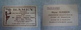 Carte Parfumée / Ramey Parfumeur à Paris / Maison Guesdon, Coiffeur à Romilly-sur-Seine (10) - Vintage (until 1960)