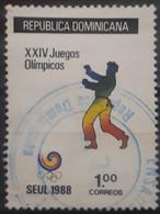 R. DOMINICANA 1988 Olympic Games - Seoul, South Korea. USADO - USED. - Dominican Republic