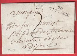 MARQUE 20 VITEAUX COTE D'OR 1805 POUR DIJON INDICE 8 - 1801-1848: Precursors XIX