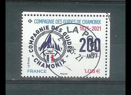 Superbe Timbre Gommé Nouveauté Compagnie Des Guides De Chamonix 2021 Oblitérée TTB PCD Rond - Used Stamps