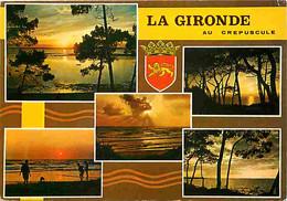 33 - Gironde - La Gironde Au Crépuscule - Multivues - Blasons - Voir Timbre - CPM - Voir Scans Recto-Verso - Other Municipalities