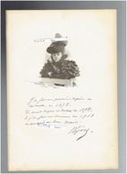 REJANE 1856 1920 PARIS COMEDIENNE THEATRE CINEMA PORTRAIT AUTOGRAPHE BIOGRAPHIE ALBUM MARIANI - Documenti Storici