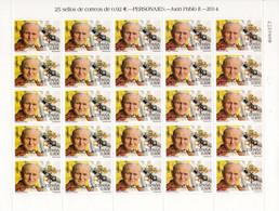 SPAIN, ESPANA - POPE JOHN PAUL II - NUMBERED FULL SHEET BLOCK STAMPS - MINT NOT HINGED SOUVENIR E - Pausen