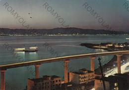 CARTOLINA  REGGIO CALABRIA,CALABRIA,VEDUTA DELLO STRETTO-NOTTURNO,LUNGOMARE,ESTATE,VACANZA,VIAGGIATA 1975 - Reggio Calabria