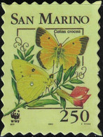 Saint Marin Timbre Fictif Autocollant Papillon Colias Crocea Souci Scrapbooking - Scrapbooking