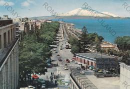 """CARTOLINA  REGGIO CALABRIA,CALABRIA,LUNGOMARE E VEDUTA DELL""""ETNA,MARE,SOLE,LIDO,BAGNI,ESTATE,VACANZA,VIAGGIATA 1973 - Reggio Calabria"""